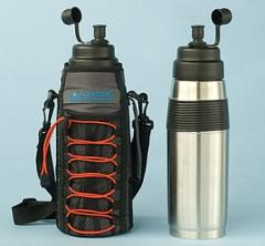 AQUATOMIC Stainless Steel Water Bottle with Insulated Magnetic Carrier
