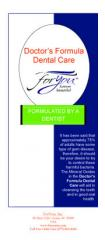 Dr.'s Formula Dental Care Brochures (50 qty)