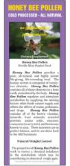 Honey Bee Pollen Cards (50 qty)