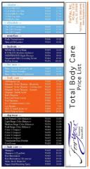 Total Body Care Price Lists (25)